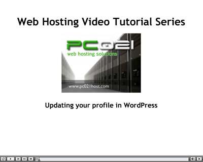 Podešavanje profila u WordPress-u