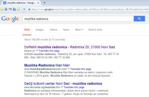 Kako dobiti realnu poziciju web sajta na Google - Muzička radionica